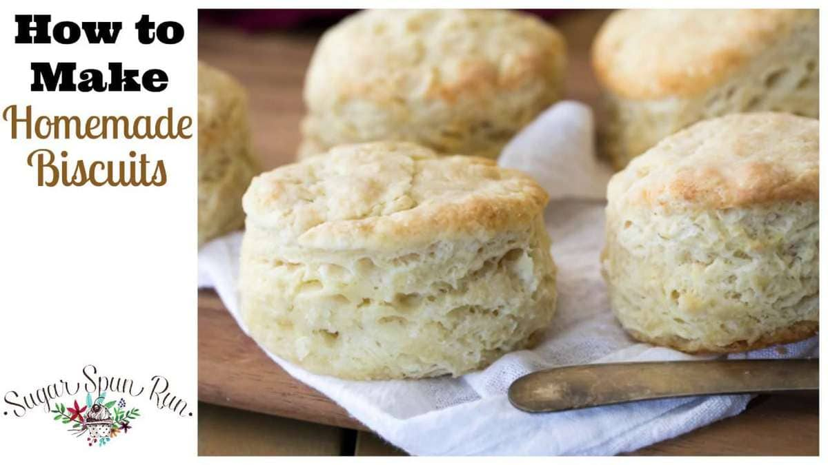 Easy Homemade Biscuits Sugar Spun Run