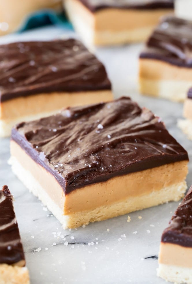 Peanut Butter Shortbread Slice