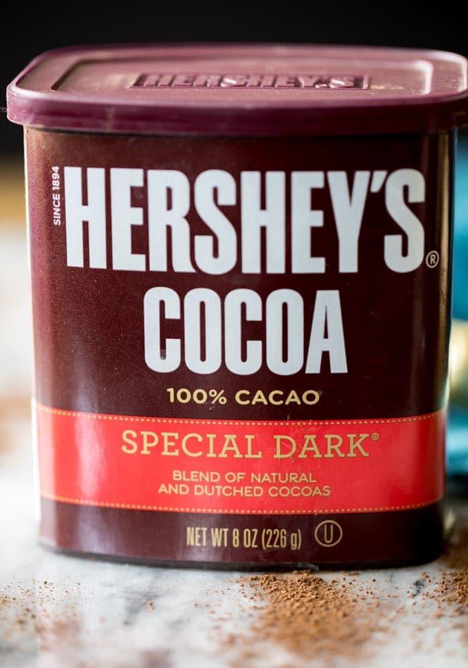 Dark cocoa powder for dark chocolate cupcakes