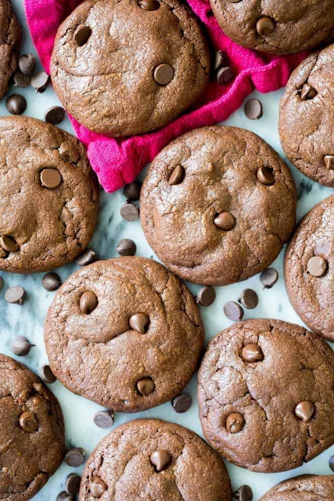 Brownie Cookies overhead view