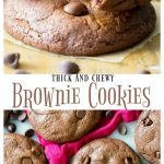 Thick and Chewy Brownie Cookies