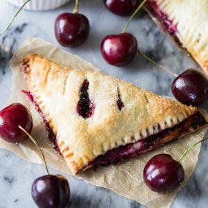 Cherry cheesecake turnover