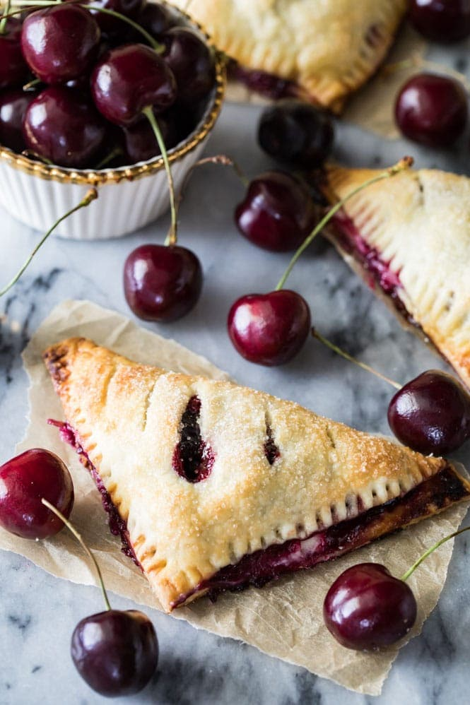 Cherry Cheesecake Turnover after Baking