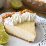 Key lime pie slice