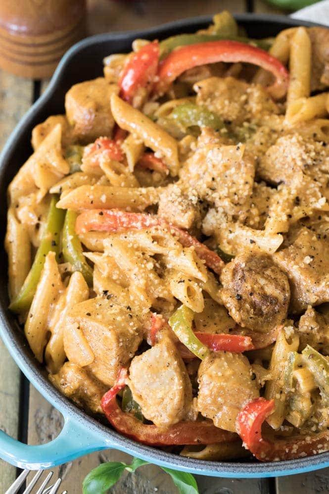 Cajun Chicken with Penne Pasta