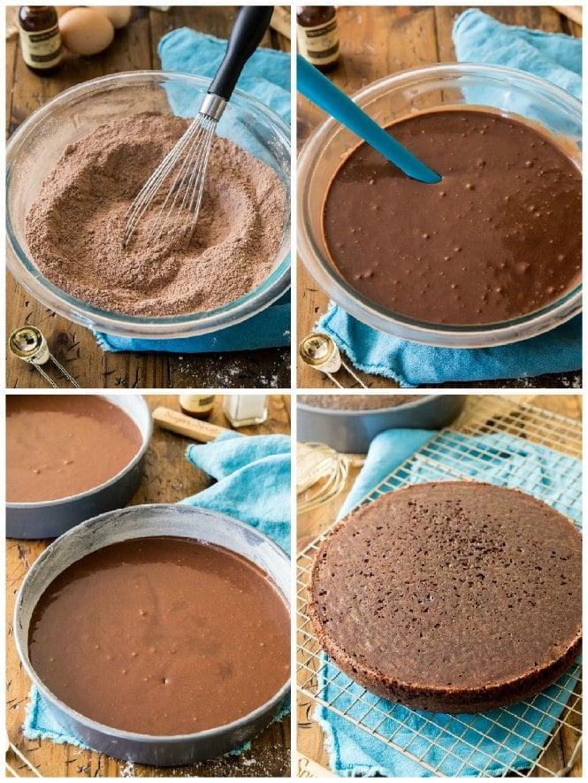 How to make chocolate cake: 4 steps