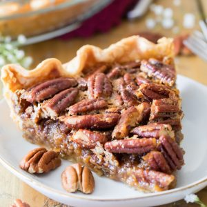 Pecan pie slice