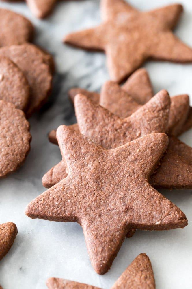 Freshly baked chocolate sugar cookie