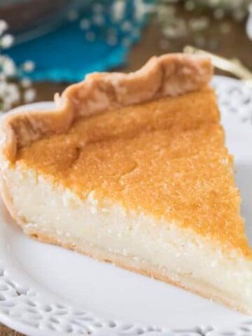 Buttermilk Pie slice