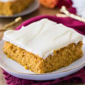 Pumpkin bar with icing