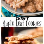Crispy Maple Leaf Cookies