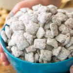 Puppy chow in bowl