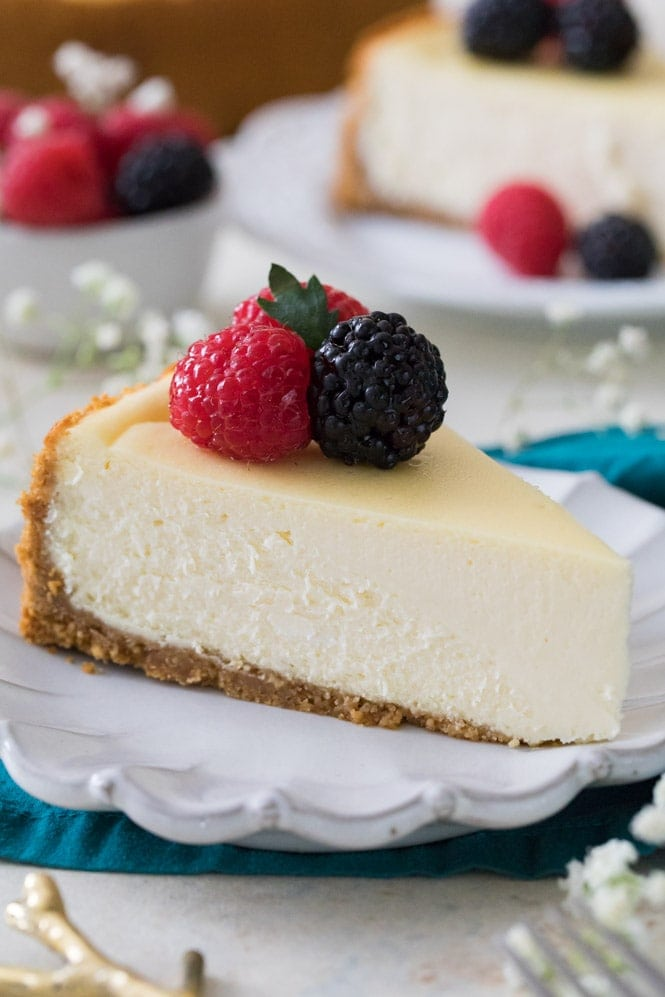 Slice of the best cheesecake recipe