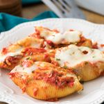 Stuffed shells on plate
