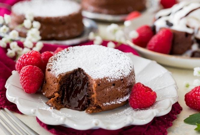 Molten lava cake interior