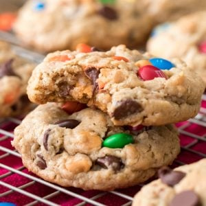 Stacked monster cookies