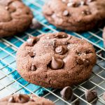 Ultimate chocolate cookie on cooling rack