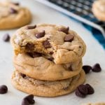Chocolate chip pudding cookie stack