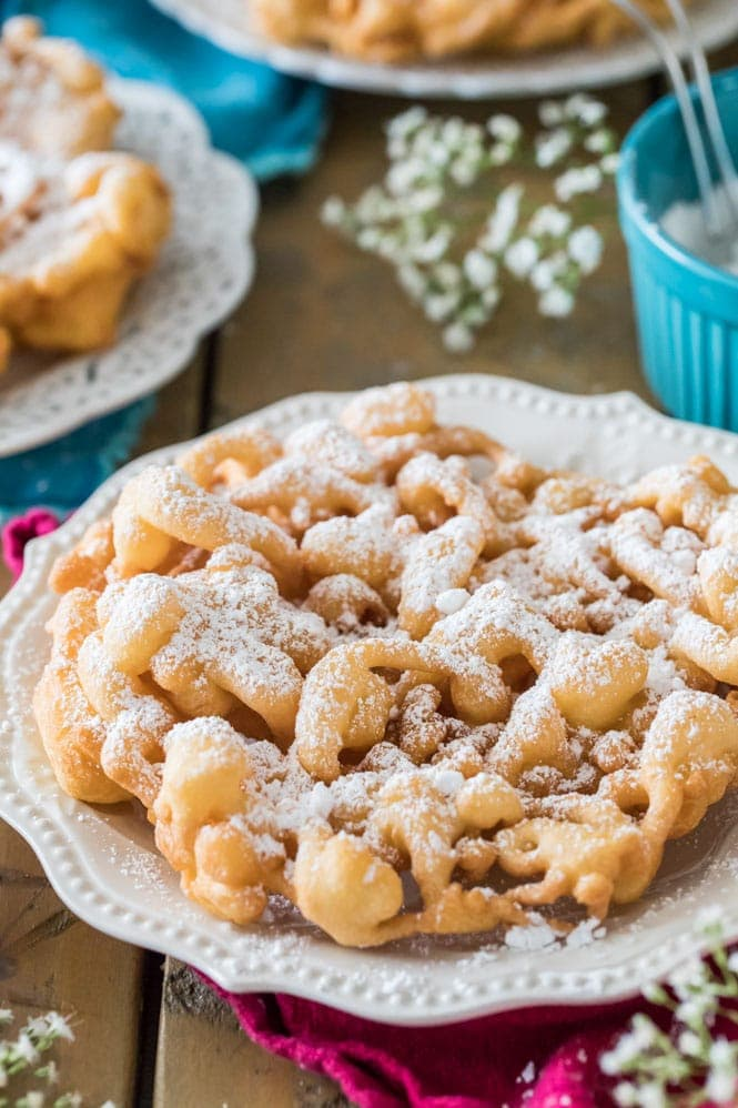 Fast way to make funnel cakes without milk and eggs