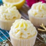 Lemon cupcake with icing