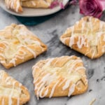 cheese danishes on marble surface