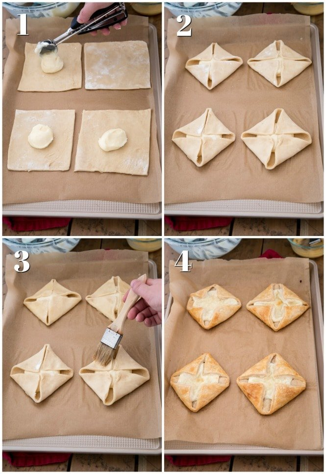 How to assemble Cheese Danishes