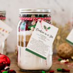 Cookie mix in a jar with instructional tag