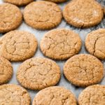 Gingersnaps on marble surface