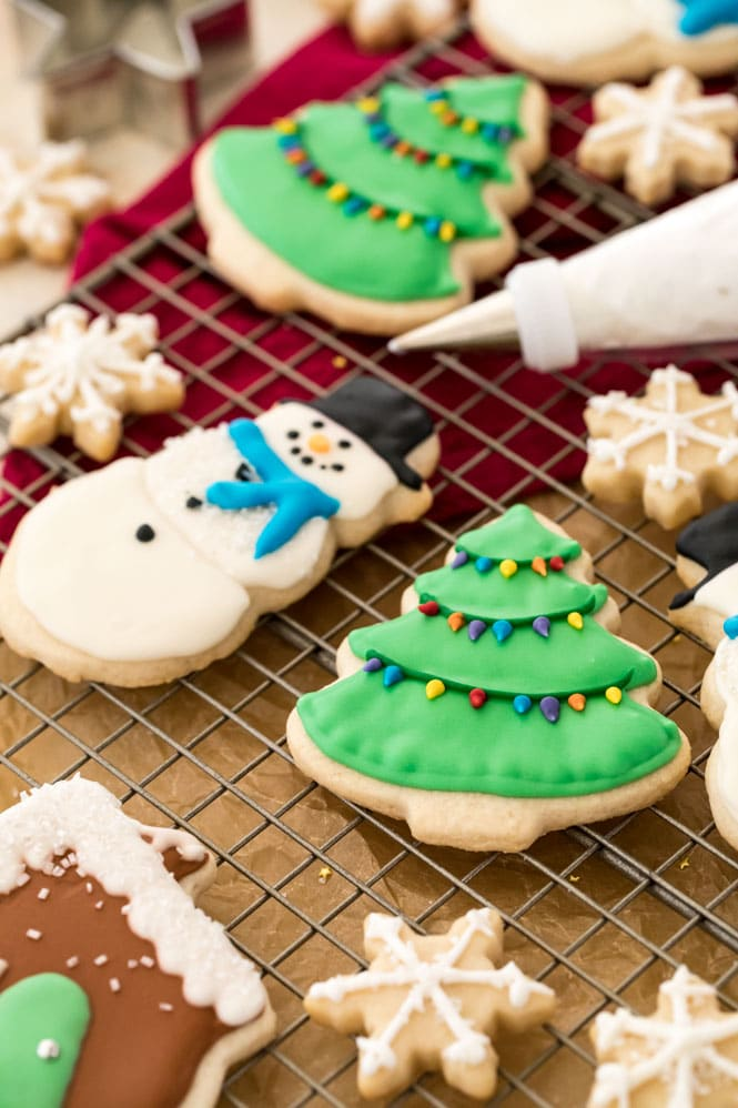 Sugar cookies decorated with my easy royal icing recipe