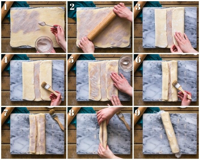 A step-by-step guide to assembling palmiers