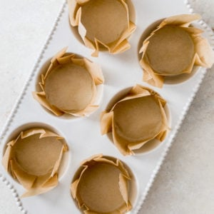 parchment paper liners in muffin tin