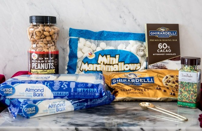 ingredients for peanut clusters