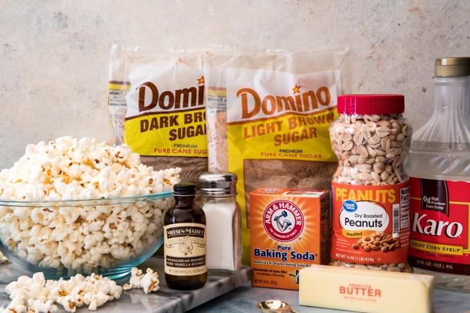 Caramel popcorn ingredients