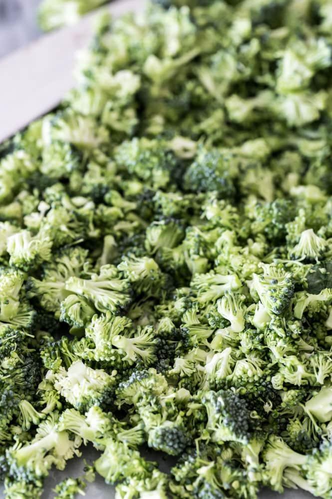 Finely chopped broccoli