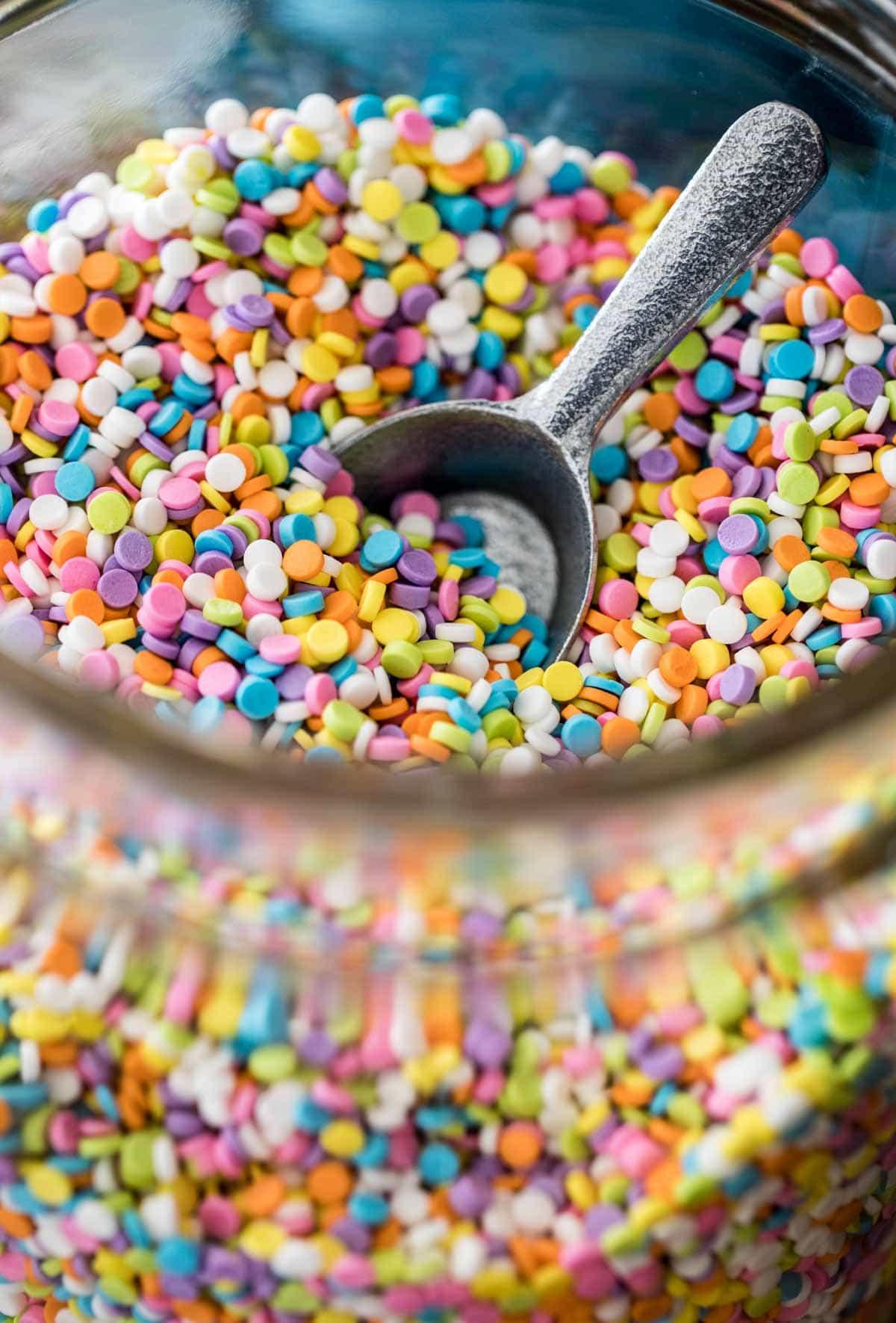 sprinkles in a jar