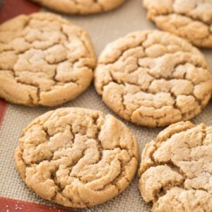 flourless peanut butter cookies on silpat