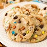 kitchen sink cookies on white plate