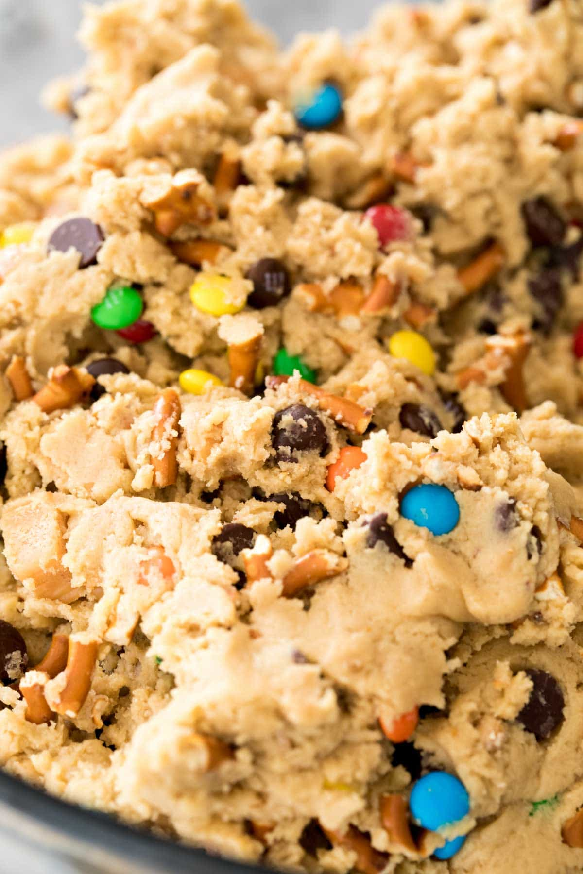 close up of Kitchen sink cookie dough