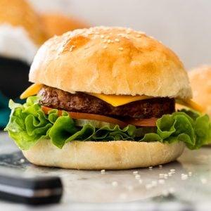 burger made with fresh bun