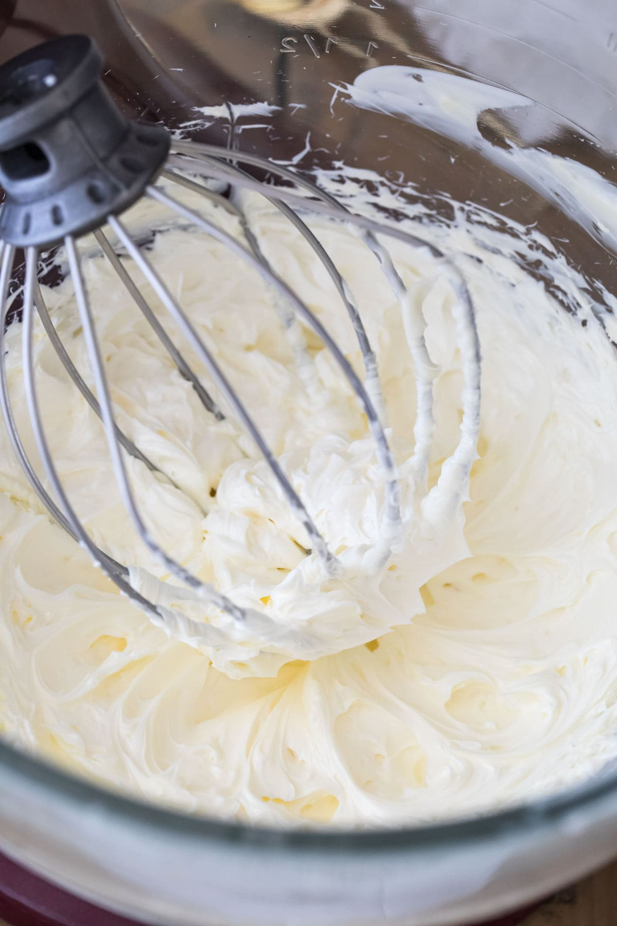creamed butter in mixer bowl