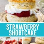 collage of strawberry shortcake pictures, 3 pictures
