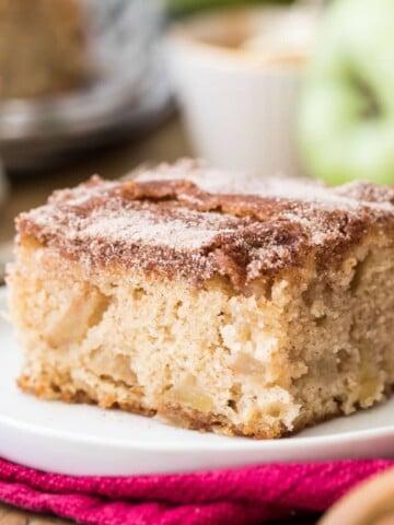 apple cake on white plate