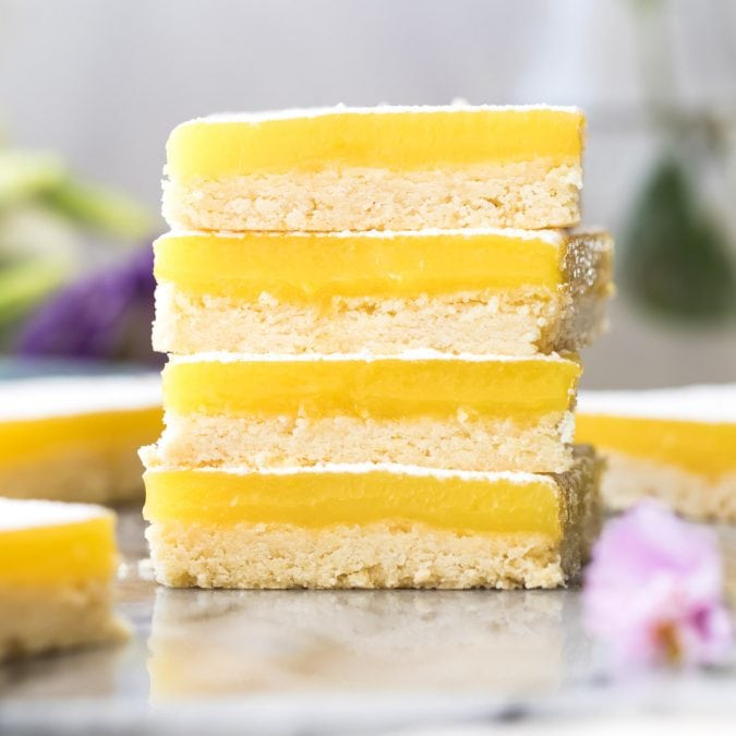 stack of 4 lemon bars