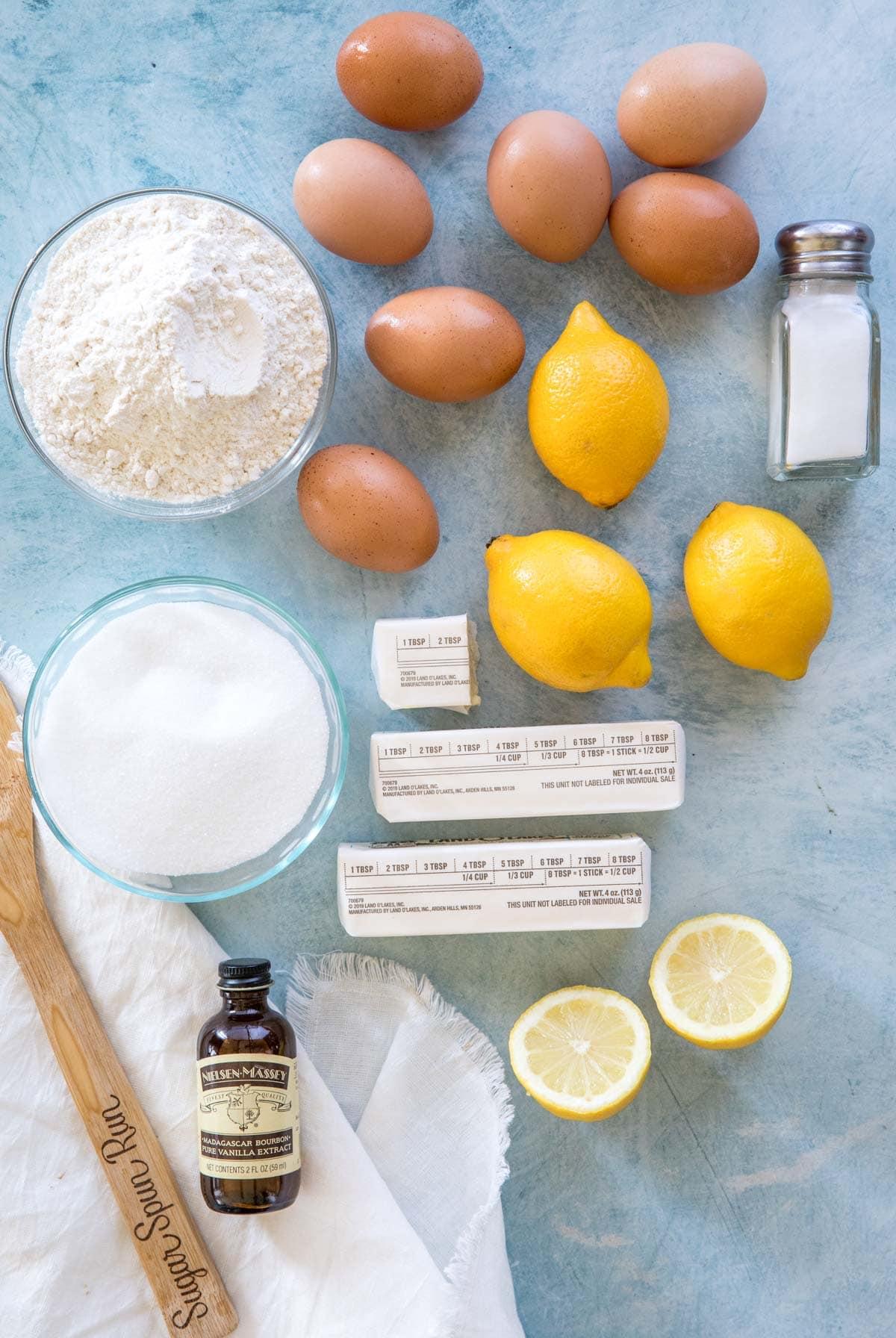 ingredients for lemon bars