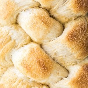 close up of sweet bread braid