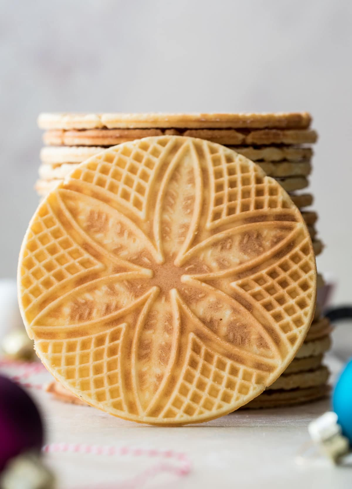 stack of pizzelle
