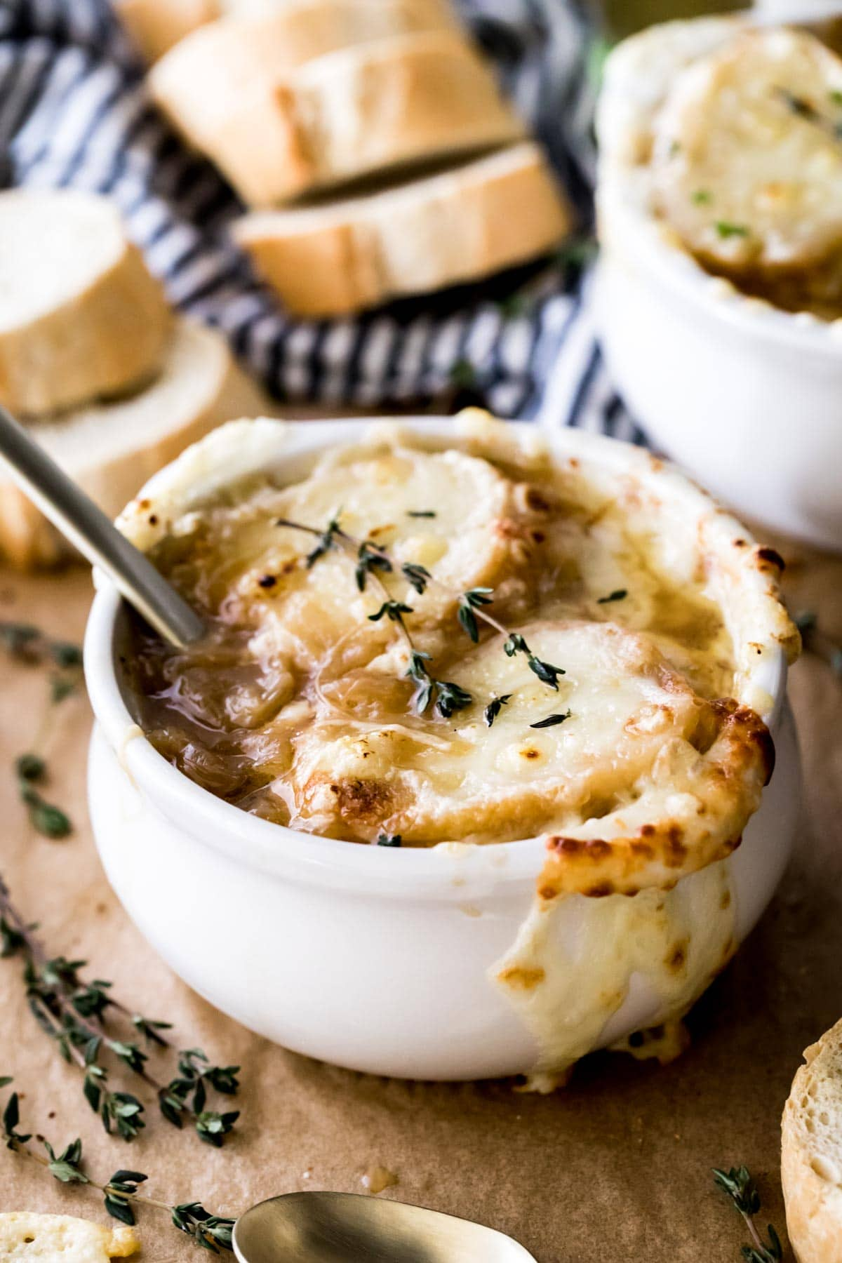 french onion soup in bowl
