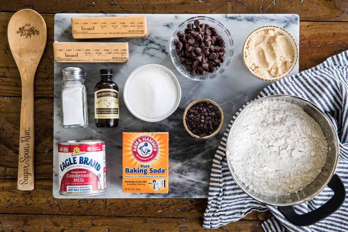 Ingredients for crispy cookies