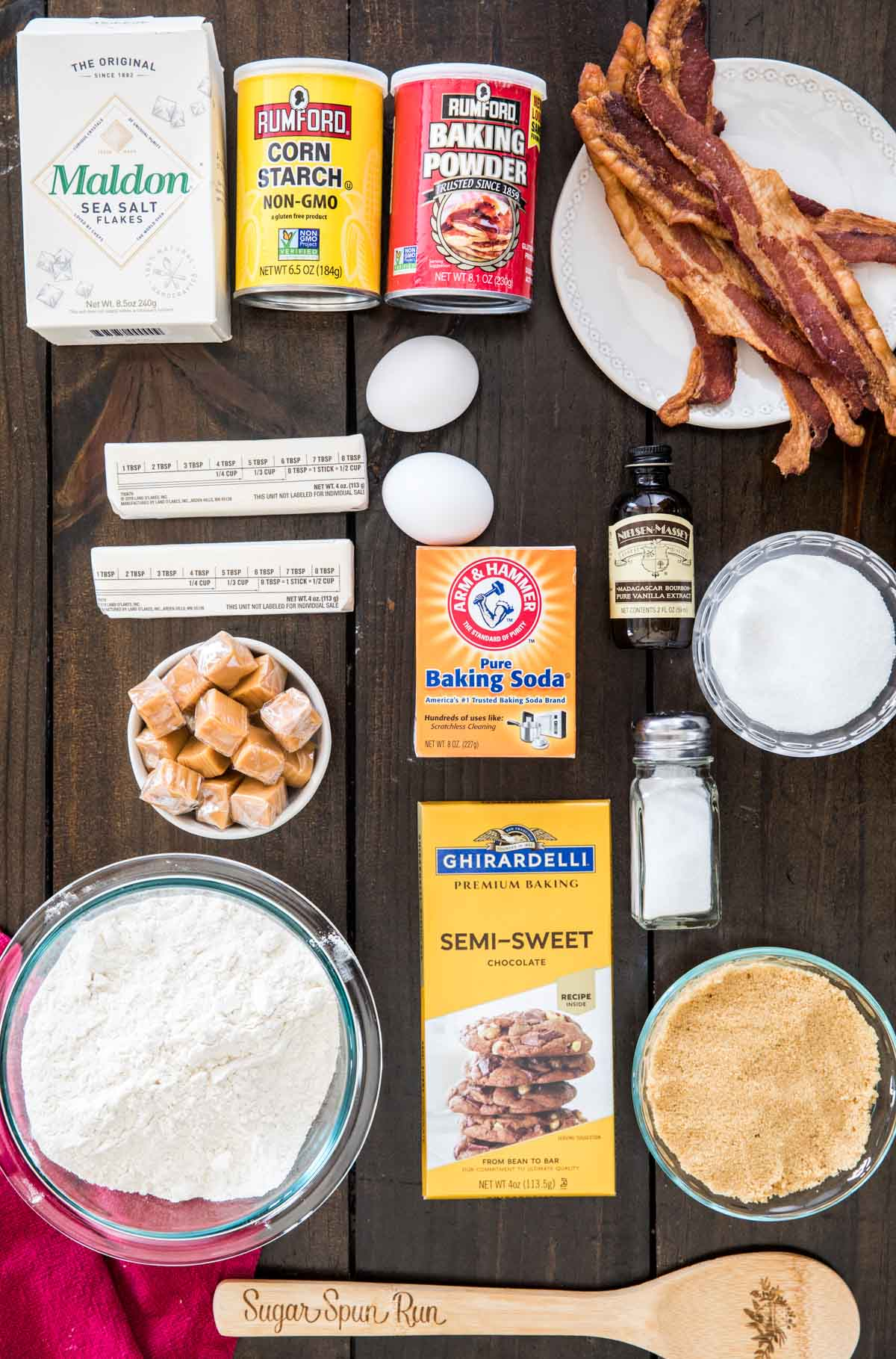 Ingredients to make Bacon cookies
