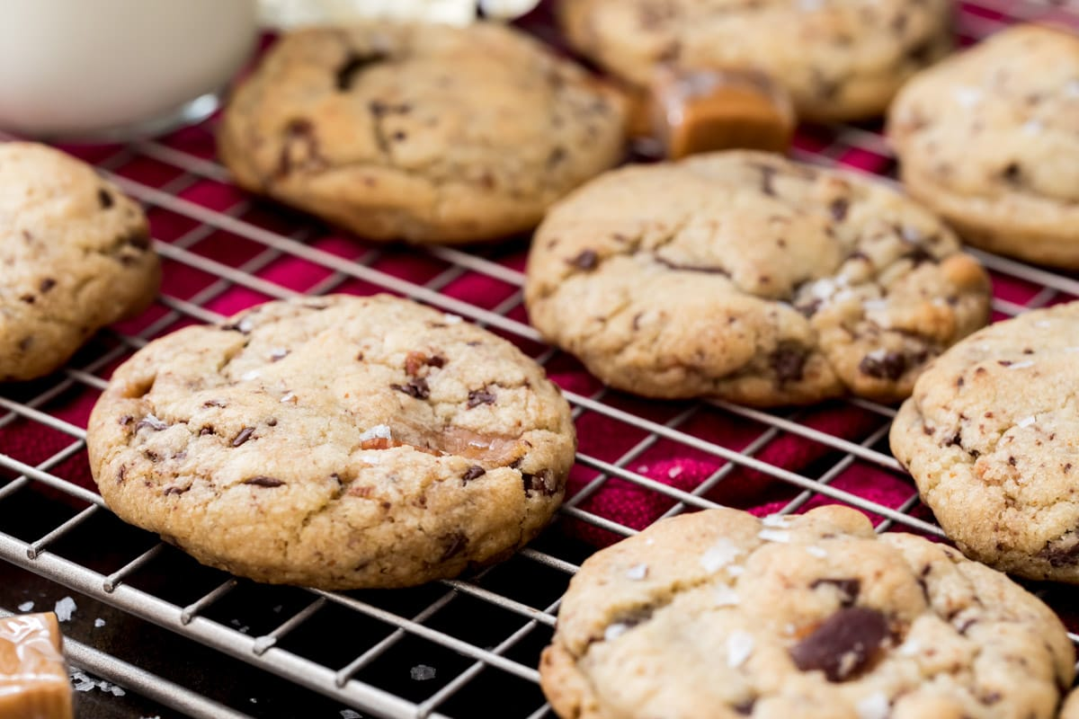 Bacon cookies on cooling rack